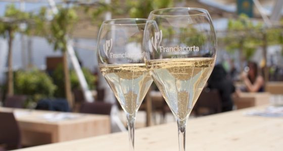 Glass of Franciacorta